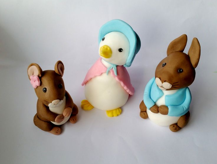 BEATRIX POTTER 3 characters edible figures cake toppers decoration