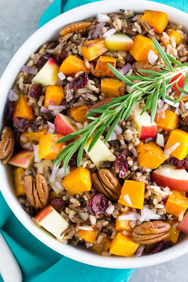 Roasted Butternut Squash and Wild Rice Salad recipe - from RecipeGirl.com : this is a great holiday salad recipe!