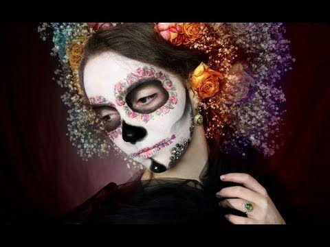 Klaire de Lys tutorial on her El Dia de los Muertos look
