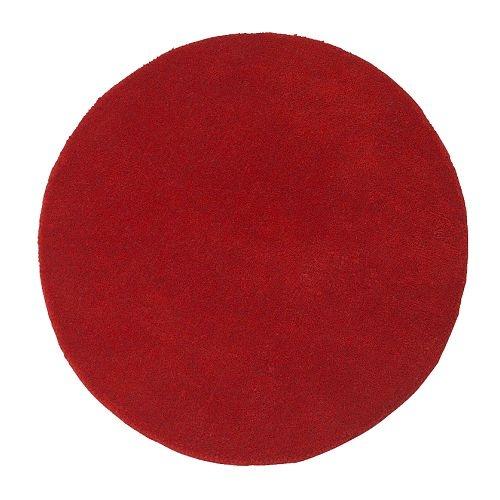 RINGUM Tapis, poils ras - rouge - IKEA