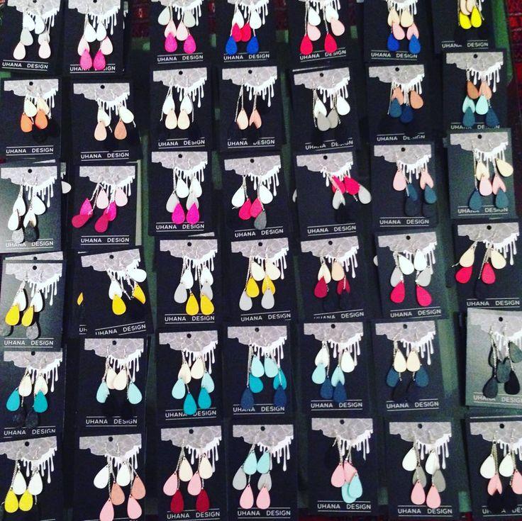 Homma etenee! #uhanadesign #pisarakorvikset #dropearrings #sweatshop #jewellerymaking #earrings #madeinfinland #lasercut #lasercutstudio by uhanadesign
