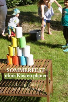 Sommerparty Planen mit Spielideen für Kinder *** How to plan a Summerparty Low Budget (German) with Kids Activity Ideas
