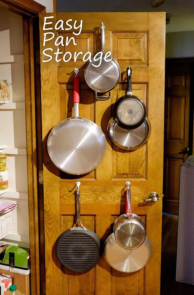 Easy Pan Storage - We have a fairly large kitchen, but have struggled with what to do with our pans. They were messy and clunky in a cabinet and we didn't have…