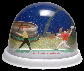 St. Louis Cardinals snowdome / snowglobe. I would have LOVED this as a kid!