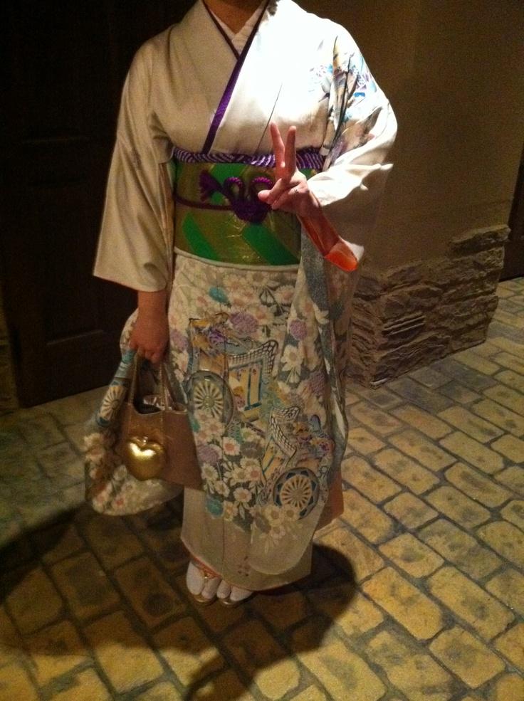 my mother 's kimono furisode