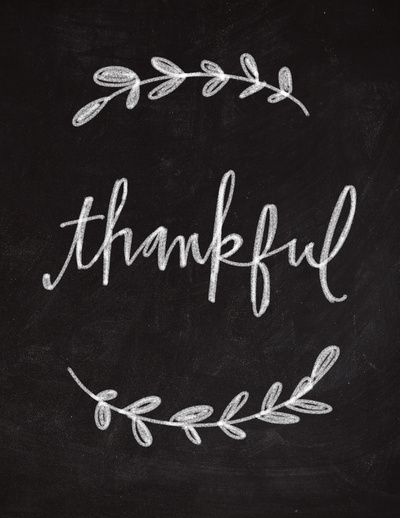 Thankful Chalkboard Art Art Print