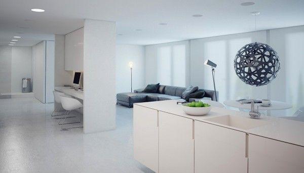 white kitchen countertop