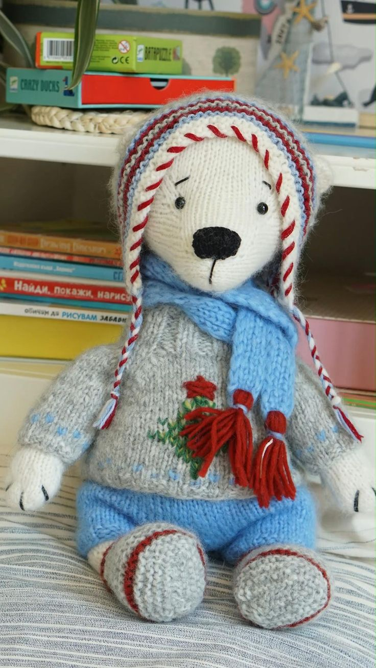 Doll clothes toy knitting patterns for Teddy Bear ...