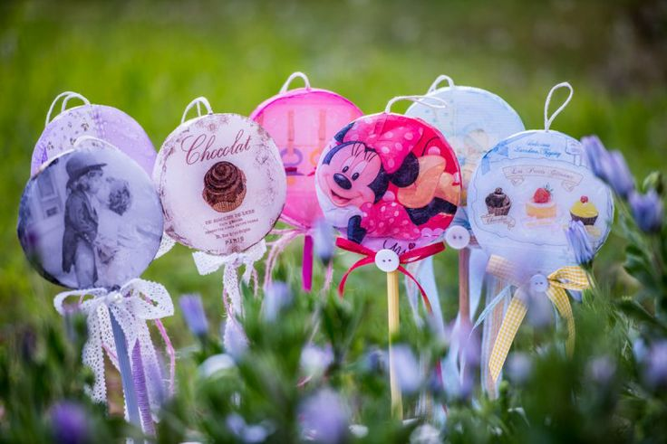 Easter Candles 2014 #lollipops #decoupage #lampades
