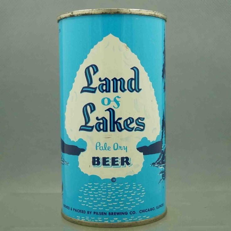 Land of Lakes 91-1 flat top beer can