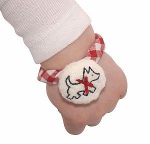 Alimrose Scotty dog wrist rattle    www.alimrose.com.au
