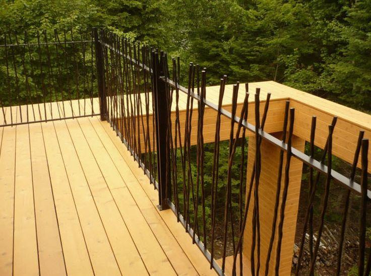 Las 25 mejores ideas sobre barandillas de hierro forjado for Barandilla escalera exterior