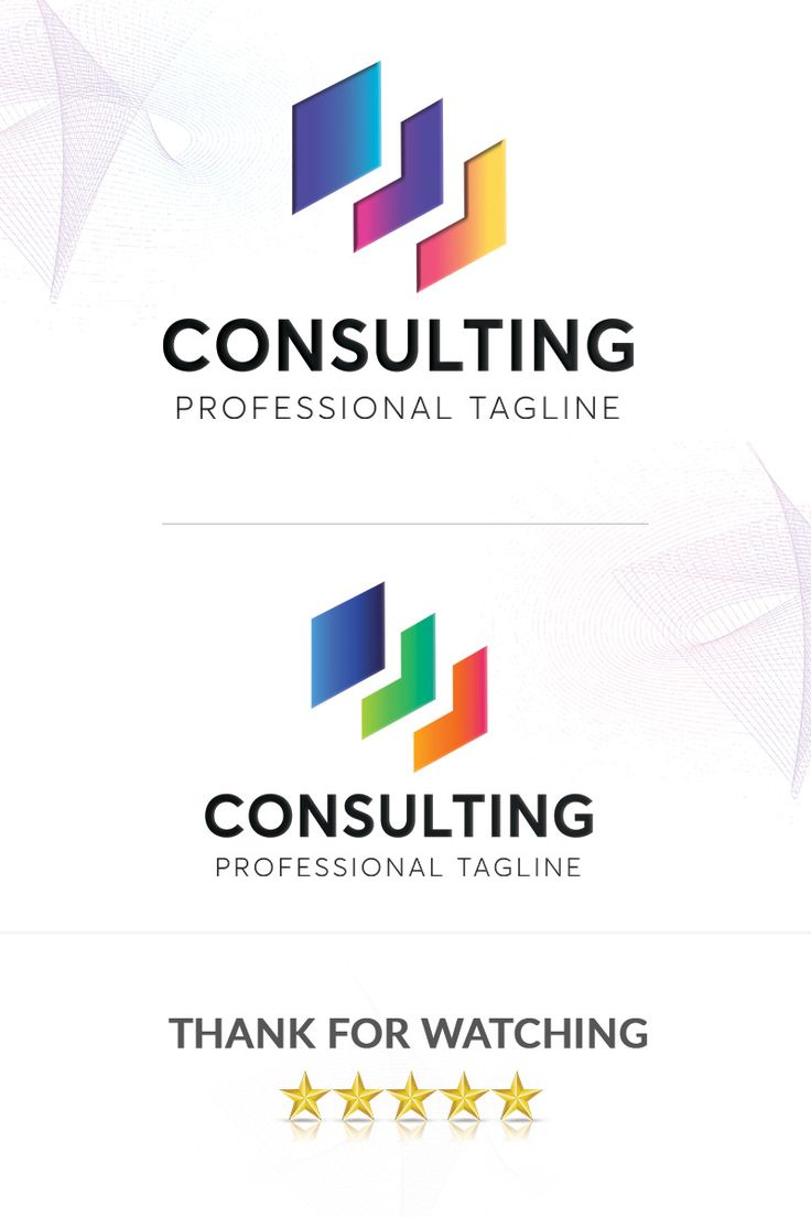 Consulting Logo Template Colorful Gradient Logo in 2020