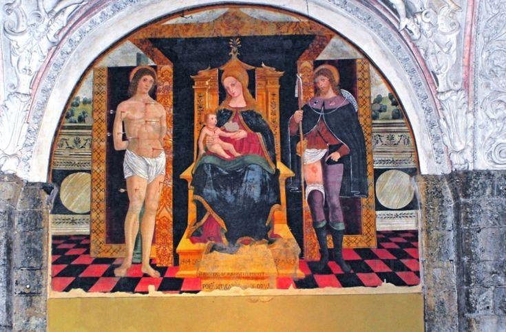 Madonna between San Sebastiano e San Rocco, 1508, Giovanni Antonio de Magistris