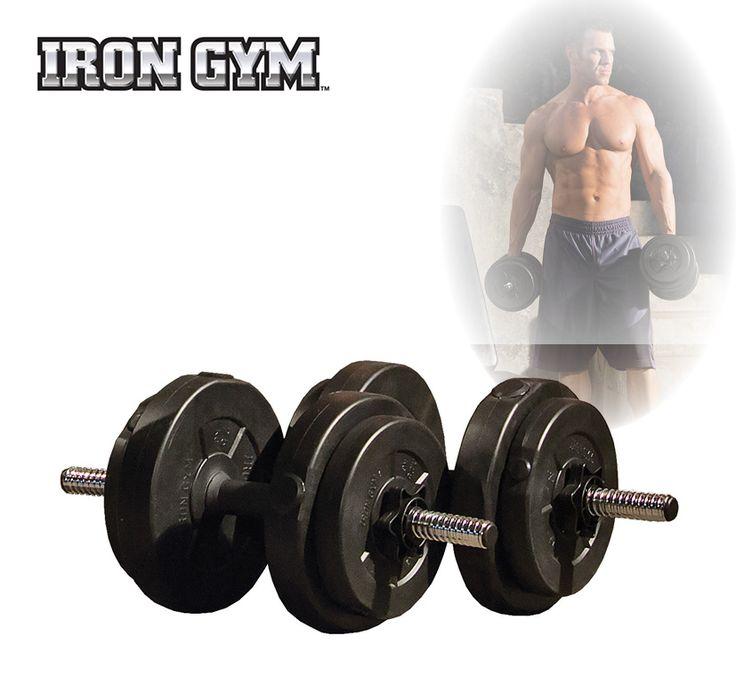 Iron Gym 15kg Adjustable Dumbbell Set  Description: De Iron Gym Dumbell set (15kg) is een eenvoudige en zeer effectieve manier om je hele lichaam te trainen. Je kan afzonderlijk trainen met de dumbells op een exercise bal of op een bench. Gewichten zijn makkelijk te wisselen door de gemakkelijke Spin Locks Perfect te gebruiken voor alle fitness niveaus! De 15 kg Dumbell set is de meest populaire set. Je kan trainen met 3 verschillende combinaties: 25kg 5kg en 75kg Je hebt ook de mogelijkheid…