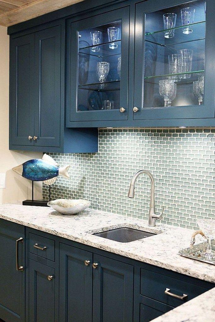 41 Gorgeous Blue Kitchen Cabinet Ideas 5 Blue Kitchen Cabinets Kitchen Cabinet Colors Kitchen Interior