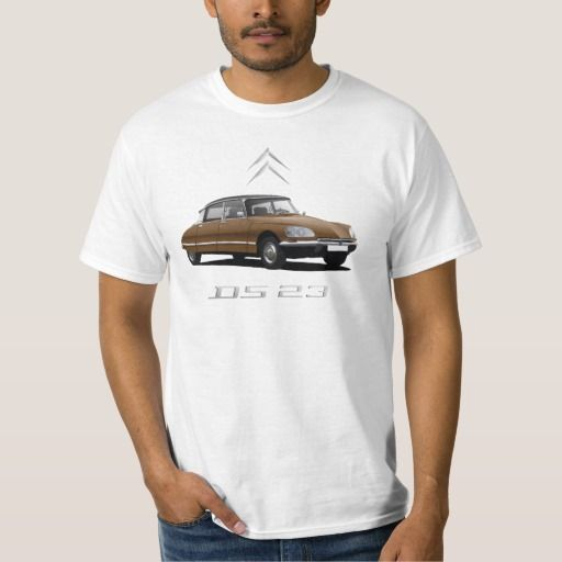 Brown Citroën DS 23, black top - silver badges DIY  #citroends #citroen #automobile #classic #car #tshirt #brown