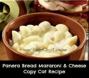 Panera Bread's Signature Macaroni & Cheese Copy Cat Recipe - probably bad if it tastes like Panera's mac and cheese....
