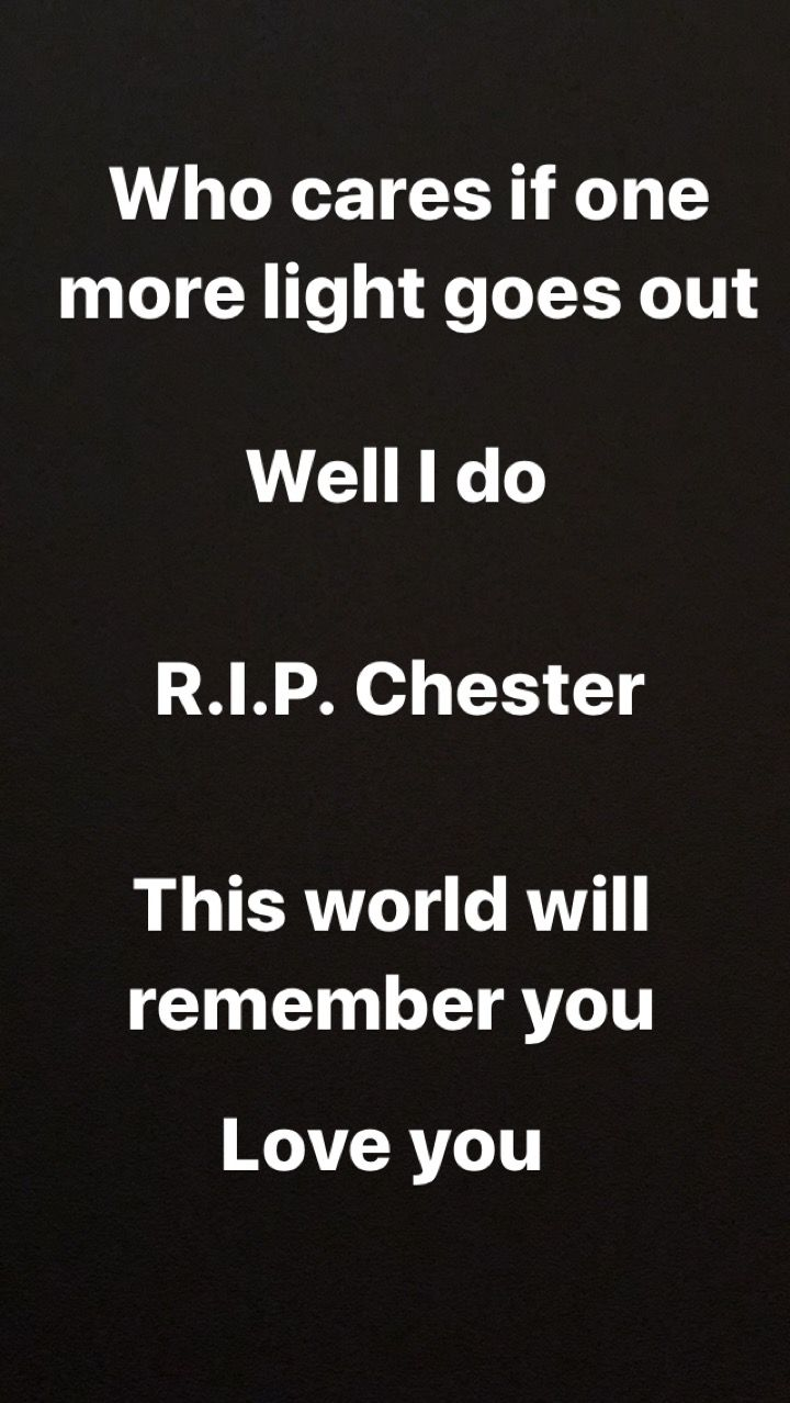 RIP Chester Bennington