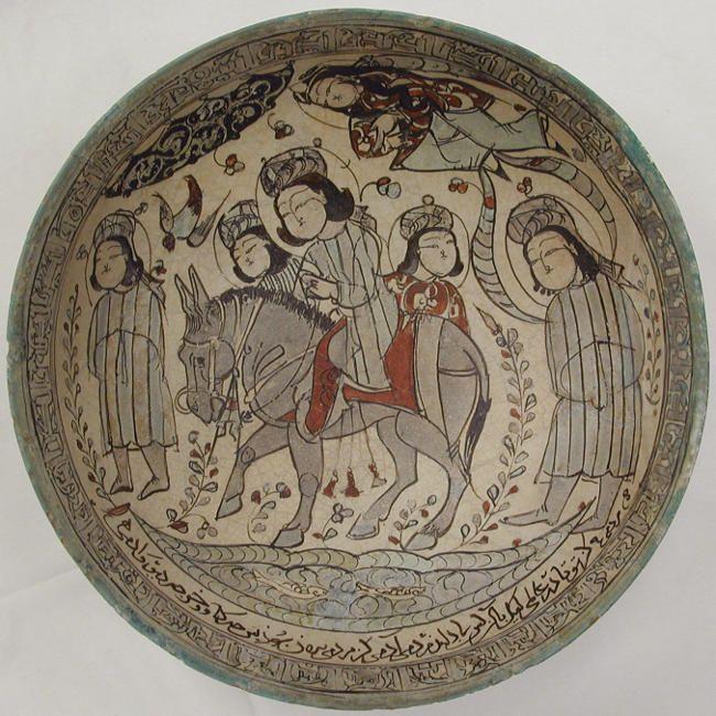 Mina'i plate by Abu Zaid al-Kashani, 1187AD