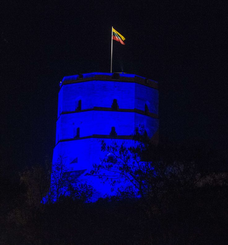 Gediminas Castle in Vilnius, Lithuania.  Photograph: Petras Malukas/AFP/Getty Images