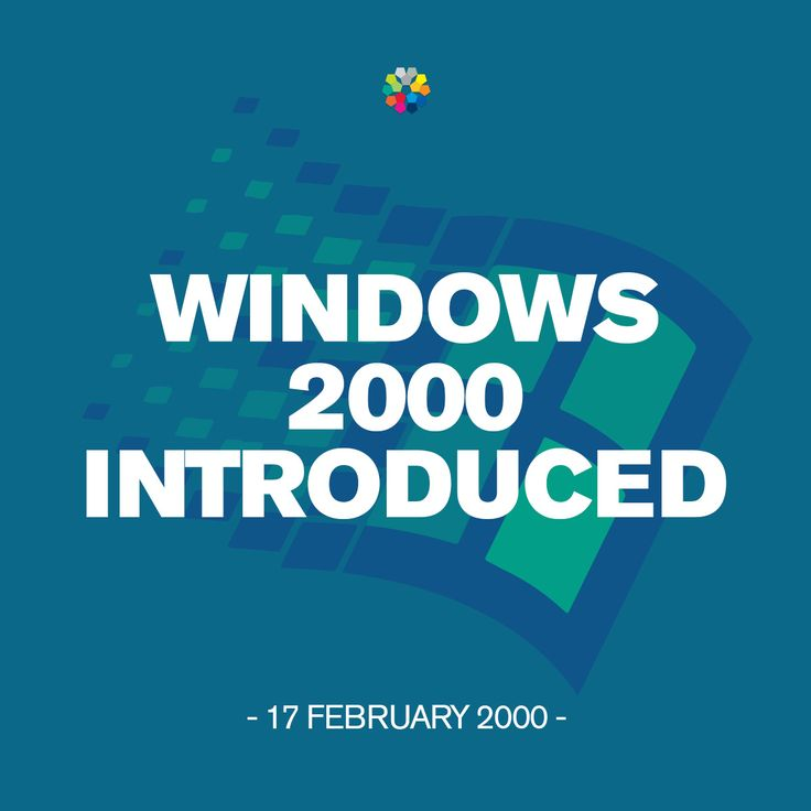 Windows 2000, produced by Microsoft and released to manufacturing on December 15, 1999, launched today to retail on in 2000.  #Windows 2000 #Microsoft