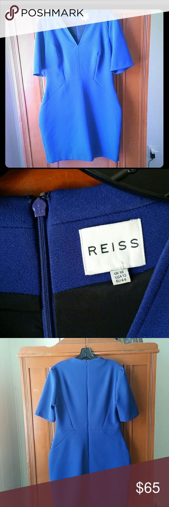 Beautiful Cobalt Blue Reiss Dress Very flattering Reiss dress. Worn once to a wedding. The color is true to the middle picture, rich and deep in hue.Can be worn for a wedding , cocktail party or special dinner Reiss Dresses Mini