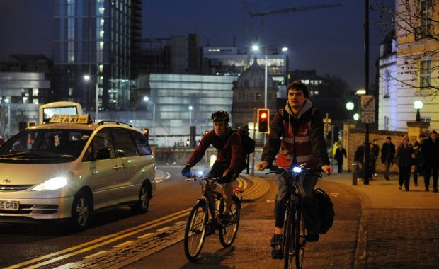 Top tips for darker evenings and being seen when you're cycling in the dark