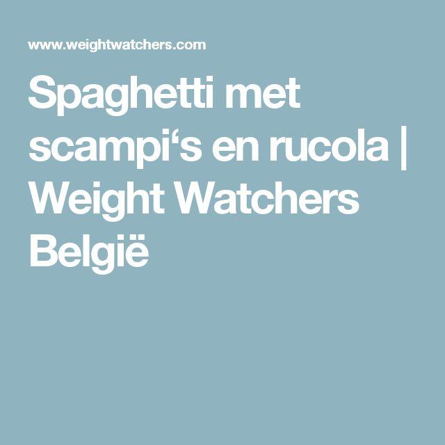 Spaghetti met scampi's en rucola   Weight Watchers België