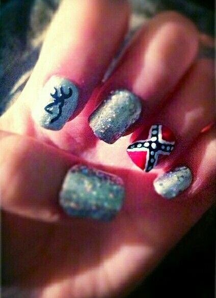 140 best nails images on pinterest nail scissors nail not so much the flag but love the browning sign and beautiful sparkling nails prinsesfo Gallery