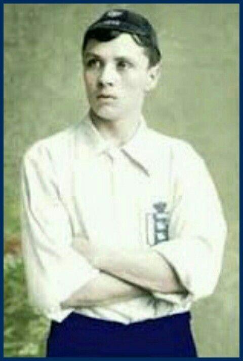Steve Bloomer of England in 1896.