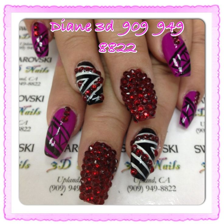 3D Nails - Upland, CA, United States. Done by Diane