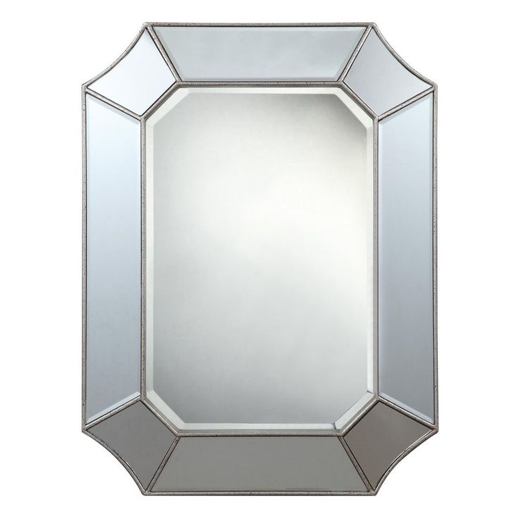 32 X 48 Mirror Part - 29: Cooper Classics Nelson 24-In X 32-In Silver Beveled Octagon Frameless  Transitional Wall Mirror 40144