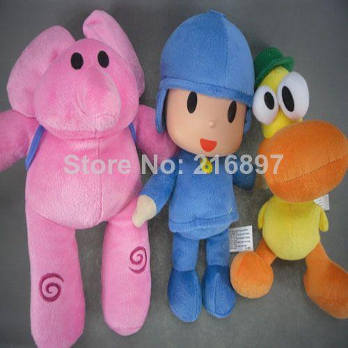 3pcs/lot POCOYO Cartoon Animales de peluche y juguetes de peluche Aficiones Elly y Pato y POCOYO juguete de peluche $20.89