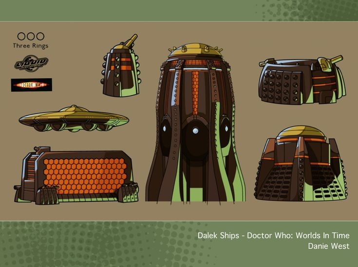 Dalek Ships - Doctor Who: Worlds In Time by westernphilosopher.deviantart.com on @DeviantArt