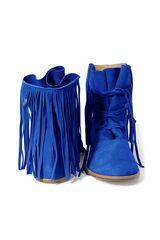 FRINGE BOOTS electric blue