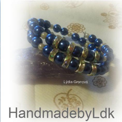 Dvojradový náramok na pamäťovom drôte, autorský originál z mojej dielničky HandmadebyLdk