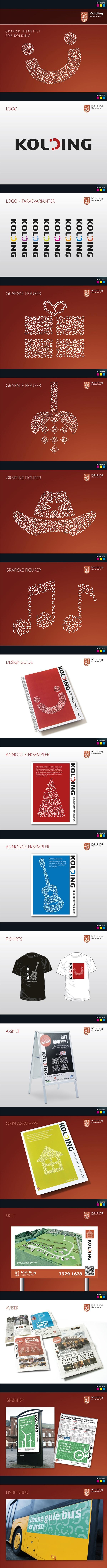 Grafisk identitet for Kolding by Masters Reklame, via Behance #mastersreklame