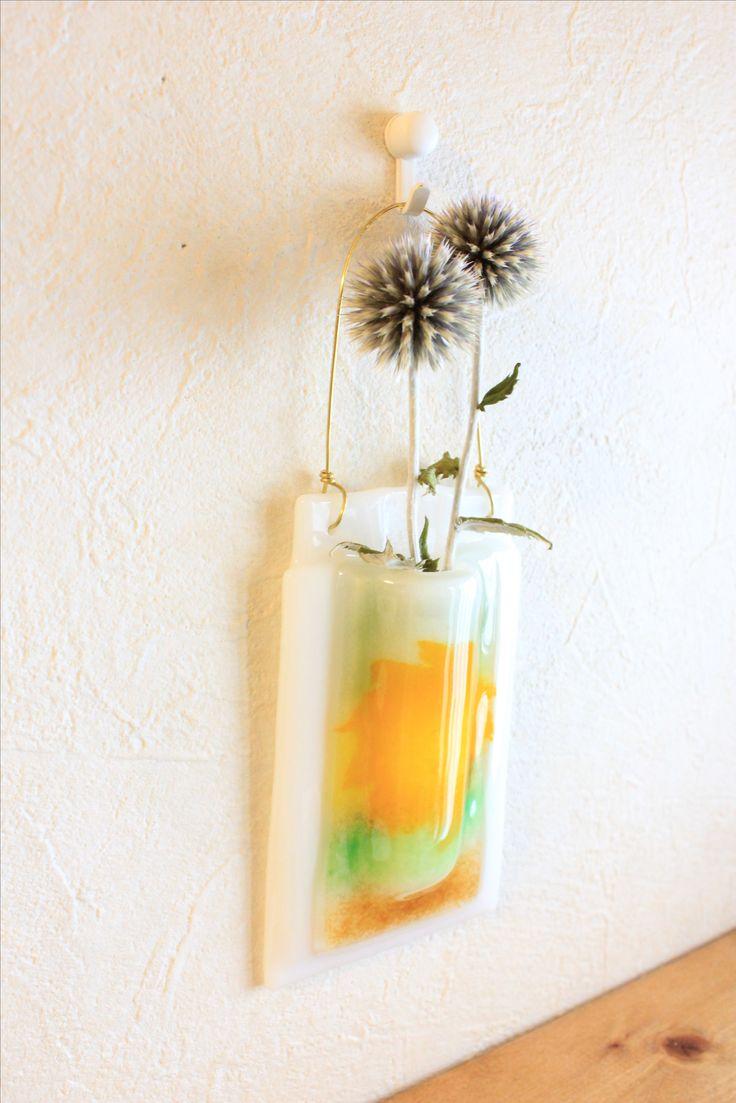 fused glass flower base
