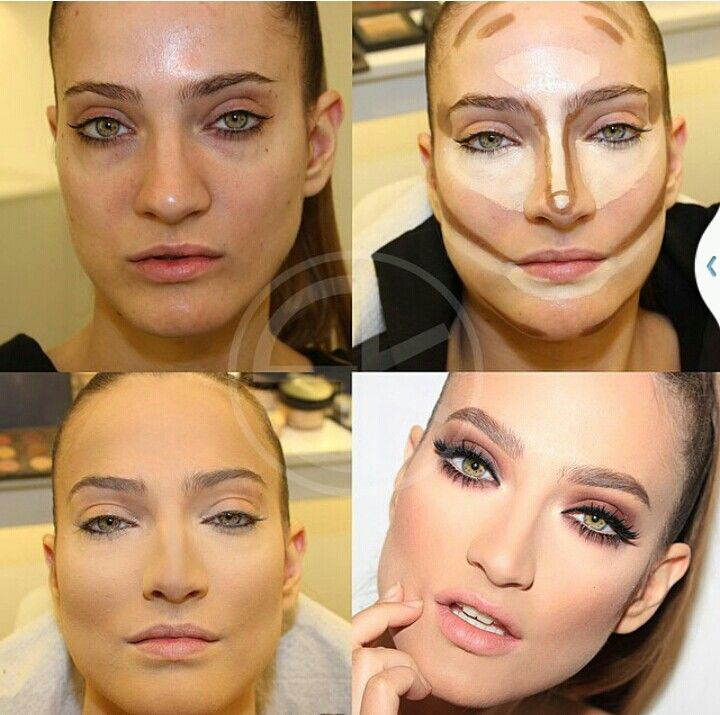 Contouring for oval face