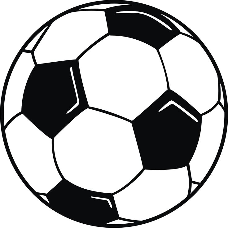 Clip Art Soccer Ball With Hi Lights
