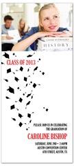 Cap Toss Design Graduation Invitation Example