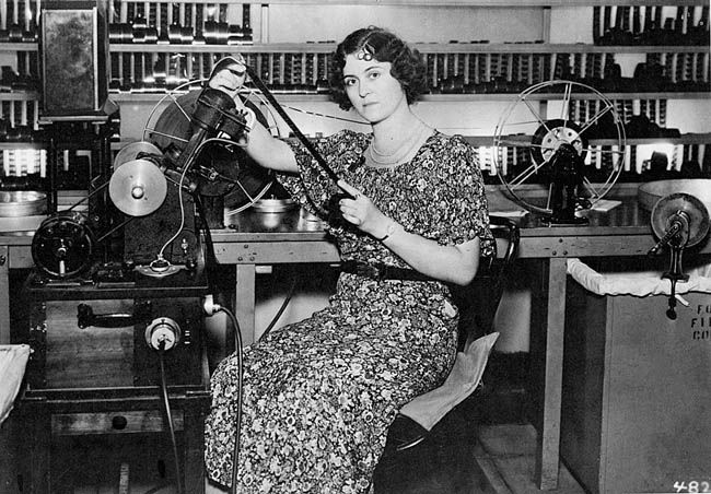 Editor Irene Morra (July 31, 1893 - November 25, 1978) at Fox Film Corporation, 1934