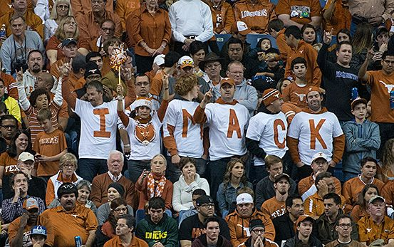 an analysis of the hearts of longhorn fans Robert h abel ishmael reed's poem i am a cowboy in the boat of ra turns on a series of elaborate puns and allusions that all reinforce the central idea that the old (black) god ra is about to reclaim his throne and his power over men.