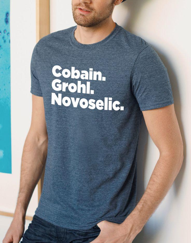 Nirvana Band line-up, Cobain t-shirt, Gift for Him, Nirvana Band Members, Kurt Cobain, Black, Grey, Blue, S-XXL by Redeyeclothing on Etsy https://www.etsy.com/listing/229162738/nirvana-band-line-up-cobain-t-shirt-gift