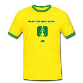Männer Kontrast T-Shirt Bequem geschnittenes T-Shirt für Männer mit farblich abgesetztem Rundkragen und Ärmeln, 100% Baumwolle, Marke: Sonar