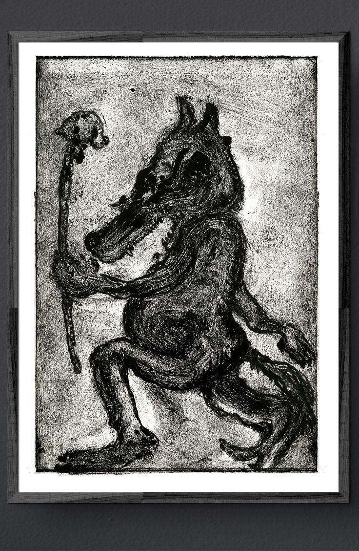 created by Konik Art Studio P.Kleszczewski konikstudio.jimdo.com  #etsy #konikartstudio #artprint #blackandwhiteprints #folklore #fairytales #printmaking #print #graphicartist #mythology #craft