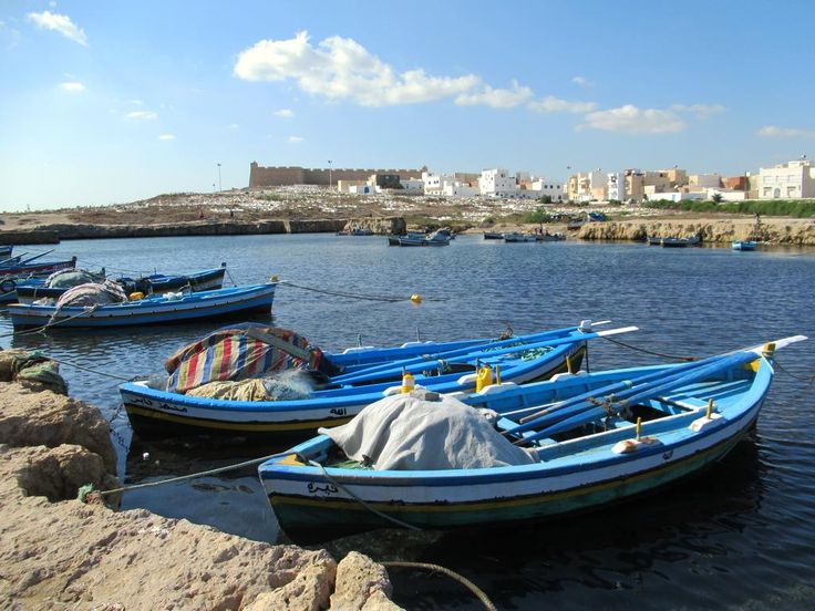 The ancient Fatimid port at Mahdia, Tunisia, was cut directly into the coastal rocks a thousand years ago.