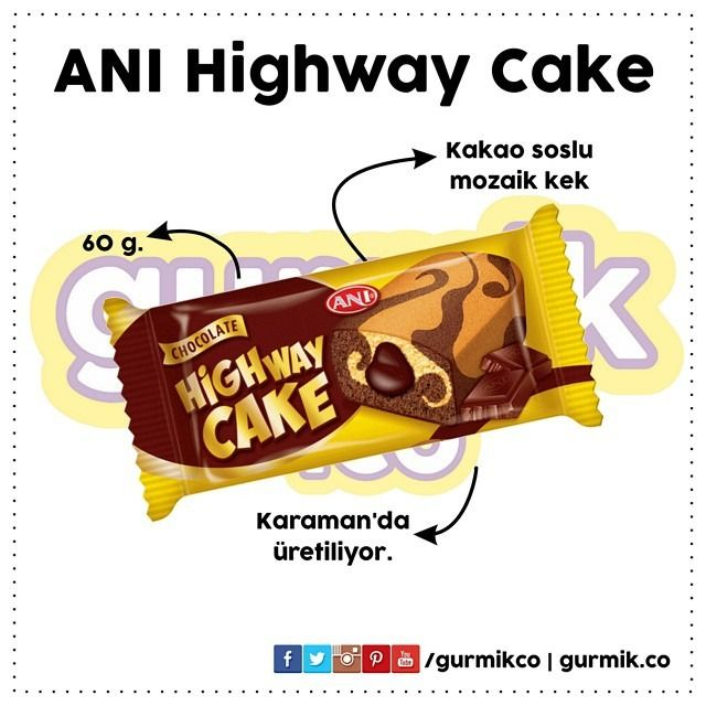 Mozaik kekin içinde kakao sosu: Highway Cake… Karaman'da üretildiğini söylememize gerek yok sanırım. :)