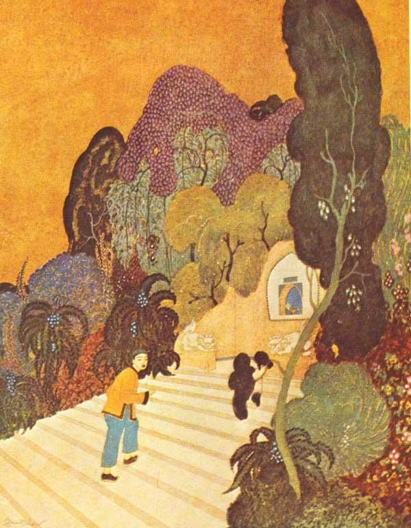 Climbing the Steps by Edmund Dulac